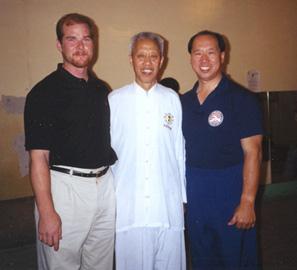 Carl Dechiara's teachers Grandmaster Chen Qingzhou & Master Kenneth Chung
