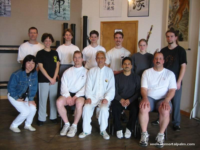 Carl Dechiara with teacher Grandmaster Chen Qingzhou and students
