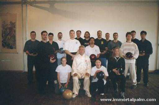 Carl Dechiara with his teacher Grandmaster Chen Qingzhou