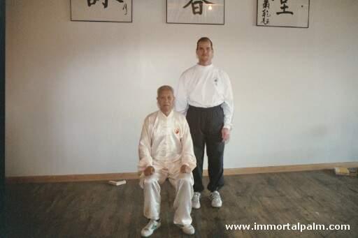 Carl Dechiara and his teacher Grandmaster Chen Qingzhou