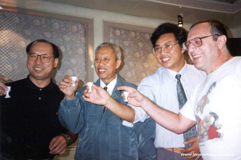 Carl Dechiara's teachers Grandmaster Chen Qingzhou, Master Kenneth Chung (1991-2010) and Eddie Oshins