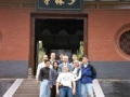 Carl Dechiara with teachers Grandmaster Chen Qingzhou and Eddie Oshins at Shaolin Temple