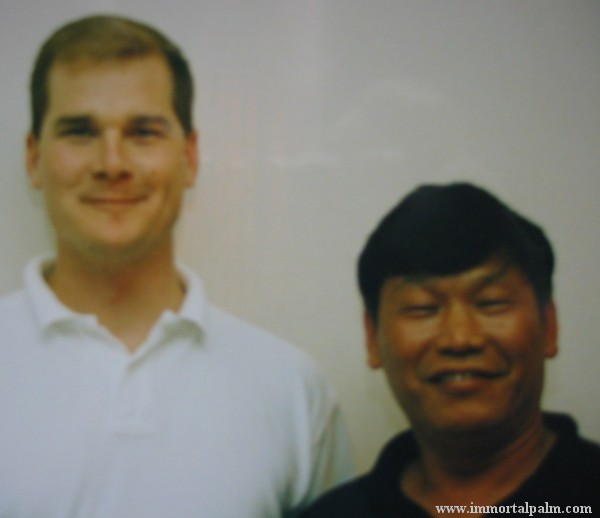 Carl Dechiara with his teacher Grandmaster Victor Sheng Long Fu