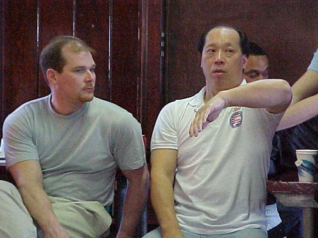 Carl Dechiara with his teacher (1991-2010) Master Kenneth Chung